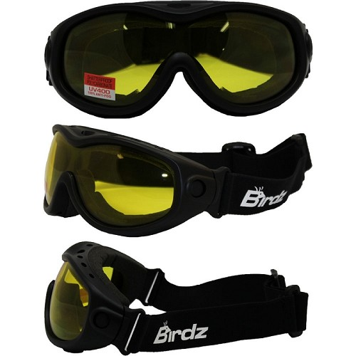 Fit Over Vented Motorcycle Goggles Yellow Lens