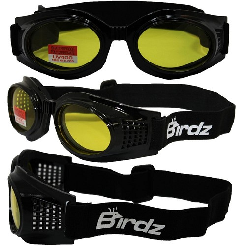 Anti-Fog Vented Motorcycle Goggles Yellow Lenses