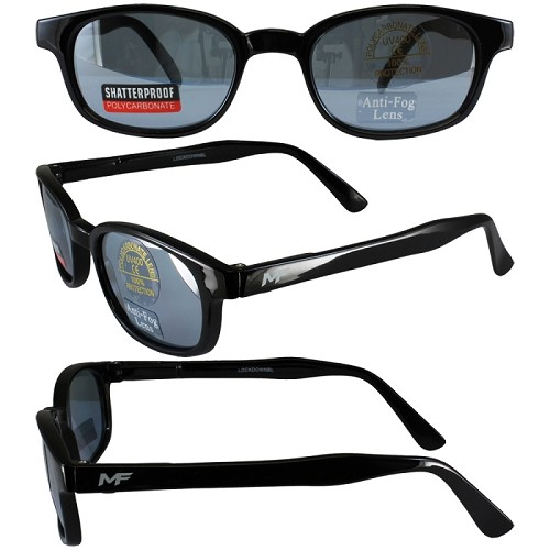 Motorcycle Sunglasses Blue Lenses Spring Hinges