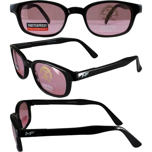 Motorcycle Sunglasses Rose Lenses Spring Hinges