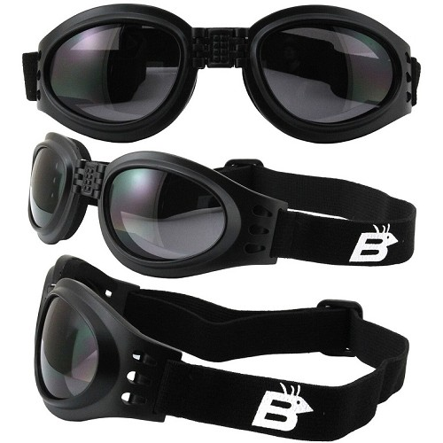 Parrot Vented Folding Goggles Smoke Lenses