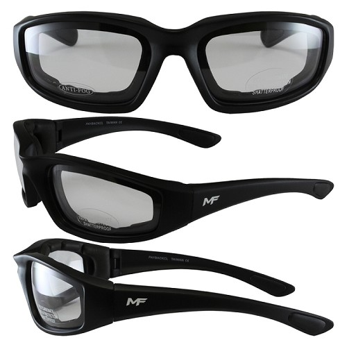 Aerodynamic Motorcycle Sunglasses Clear Lenses