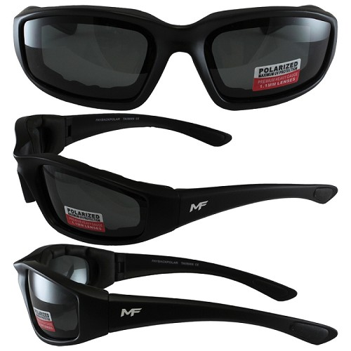 Universal Fit Motorcycle Sunglasses Polarized Smoke Lenses