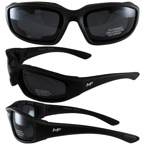 Universal Fit Motorcycle Sunglasses Smoke Lenses