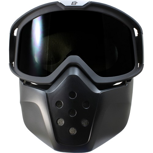 Motorcycle Goggles with Removable Face Mask