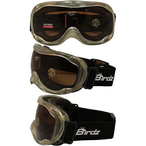 Fit Over Biker Goggles Clear Frame Smoke Lens