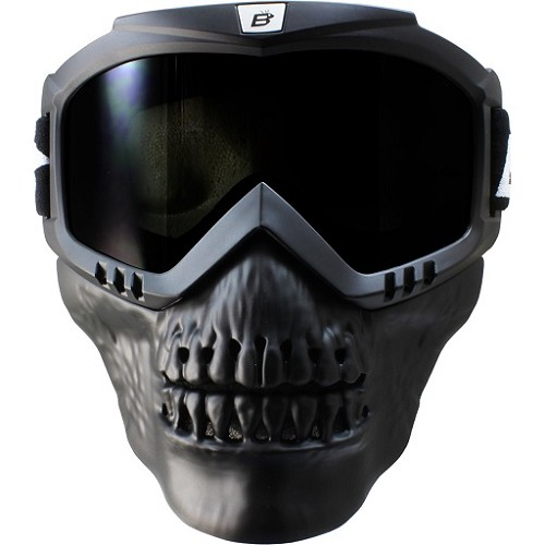 Smoke Motorcycle Goggles with Skull Face Mask
