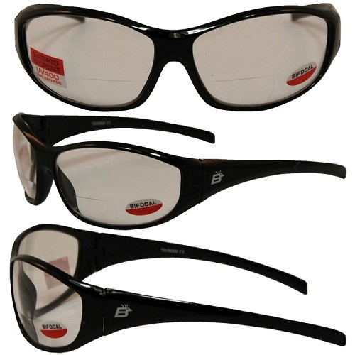 Bifocal Motorcycle Sunglasses Clear Lens Bifocals