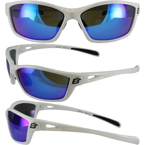 Motorcycle Sunglasses with Blue Lenses Swift