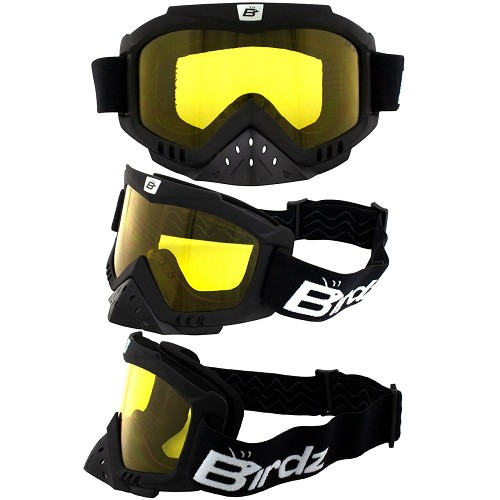 Toucan Vented Goggles with Yellow Lenses