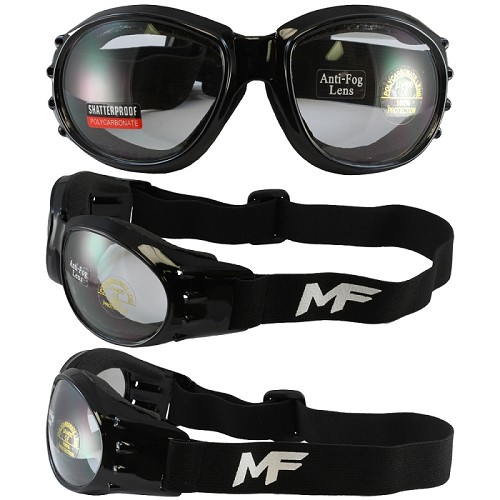 Vented Motorcycle Goggles Clear Lens