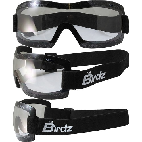 Lightweight Motorcycle Goggles Padded Clear Lens